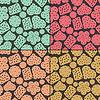ID 3331518 | 원활한 패턴 네 가지 쿠키의 설정 | 벡터 클립 아트 | CLIPARTO