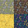 Satz von vier dekorativen Elementen - nahtlose Muster