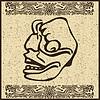 Aztec indischen Gesicht