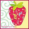 Erdbeere Rahmen. Rote Beeren und rosa Blüten