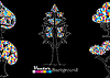 Ustaw abstrakcyjnych drzew | Stock Vector Graphics