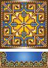 Ornament für den blauen Teppich