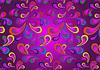 Paisley auf violettem Hintergrund