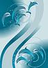 Stado delfinów pływanie w morzu | Stock Vector Graphics