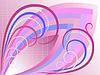 abstrakter Kurven in Licht lila karierten hintergrund