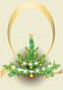 flaumiger Weihnachtsbaum. Postkarte