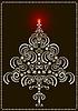 Openwork Weihnachtsbaum auf einem dunklen Hintergrund