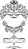 Dekoracyjne ramki w stylu orientalnym | Stock Vector Graphics