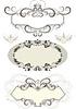 Vintage frame mit Krone und den Kurven dekoriert
