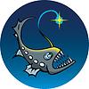 깊은 바다 낚시꾼 | Stock Vector Graphics