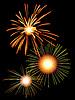 밤 하늘에 불꽃 놀이 | Stock Vector Graphics