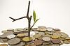 Münzen-und Anlagenbau | Stock Foto