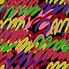 抽象艺术丰富多彩的无缝模式 | 向量插图