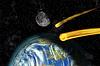 ID 3344029 | Flaming Asteroiden auf der Erde | Illustration mit hoher Auflösung | CLIPARTO