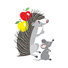 Funny Cartoon Igel und die Maus