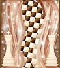 Schach-Karte mit König und Königin