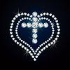 Kostbare Kreuz und Herz.