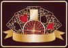 Элегантный покерный баннер | Векторный клипарт