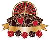 Казино - рулетка, покерные карты | Векторный клипарт