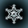 Diamanten-Schneeflocke