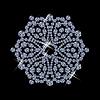 Снежинка из бриллиантов | Векторный клипарт