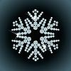 Schneeflocke von Diamanten