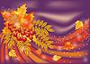 Herbst Jahreszeiten Karte, Vektor