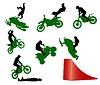 Stunt-Show auf einem Motorrad.