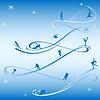 ID 3321286 | Blaue Sport-Neujahrskarte | Stock Vektorgrafik | CLIPARTO