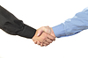 Businessmen shaking hands | Stock Foto