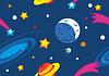 Nahtlose Muster Weltraum