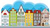 Gruppe von kleinen Häusern | Stock Vektrografik