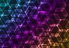 Abstract Hintergrund mit transparenten farbigen Sechsecken