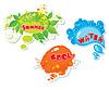 Набор летних речевых пузырьков | Векторный клипарт
