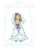 Hochzeits-Bild von Braut, Kind Hand gezeichnete Bild