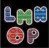 gestrickten Alphabet - LMNOP