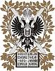 Exlibris von Nikolaus II. | Stock Vektrografik