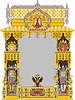 Russische kunstvollen dekorativen Rahmen mit Doppeladler