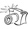 Czarno-biały kontur aparat fotograficzny | Stock Vector Graphics
