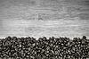 Stos ziaren kawy tworząc prosty pasek rama | Stock Foto