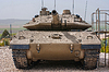 Czołg izraelski Merkava w Muzeum Latrun Armored Corps | Stock Foto