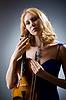 Frau mit Geige | Stock Foto