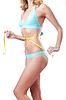 ID 3351688 | Junge Dame mit centimetr in Gewichtsverlust Konzept | Foto mit hoher Auflösung | CLIPARTO