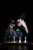 Schach-Spieler spielt sein Spiel | Stock Foto