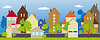 Ulica miasteczka | Stock Vector Graphics