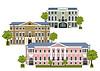 Domy w starym mieście | Stock Vector Graphics
