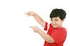 ID 3357554 | A little boy points at something, boy presents | Foto stockowe wysokiej rozdzielczości | KLIPARTO