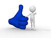 3d biznesmen stanąć obok na pozytywny symbol | Stock Illustration