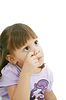 Chica rascándose la nariz | Foto de stock