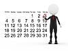 3d Geschäftsmann mit Terminkalender stets Zeitplan | Stock Illustration